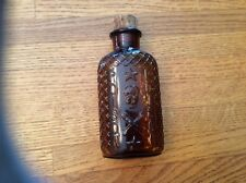 very scarce embossed skull & crossbones Poison bottle w/ label and cork