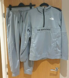 North Face Grey Tracksuit - Hoodie Size M Bottom Size S