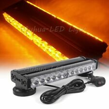 "12"" 24W LED Amber Warning Flash Emergency Traffic Advisor Mini Strobe Light Bar"