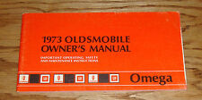Original 1973 Oldsmobile Omega Owners Operators Manual 73