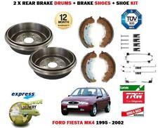 Per Ford Fiesta MK4 + 1.6 16V Sport 1995-2002 2X Tamburo Freno Posteriore Set +