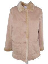 cappotto donna beige scamosciato taglia it 46 xl extra large
