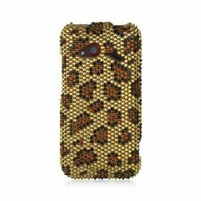 For HTC Droid Incredible (LTE version) Gold Brown Hard Diamond Case Cover