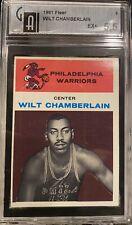 1961 Fleer Basketball Wilt Chamberlain ROOKIE! RC #8 5.5 EX+