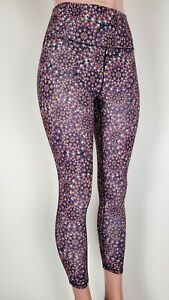 Fabletics Foldover High Waist PureLuxe Legging Solaire Womens M Yoga Colorful