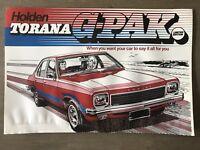 1975 Holden Torana G-Pak Limited Edition original Australian sales brochure