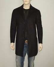 NEW CC Corneliani Collection Single Breasted Coat in Black Size 40 Wool Blend