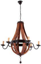 Wood Metal Wine Barrel Chandelier Charles.Pendant Fixture Luxury Farmhouse light