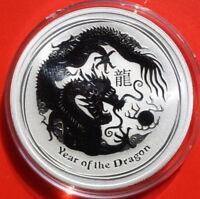 Australien 1 Dollar 2012 Silber 1 Oz  Year of the Dragon #F2504 First Strike