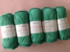 5 x 100g Balls of Sirdar 100% Cotton D/k Wool/Yarn for Knitting/Crochet Sh532