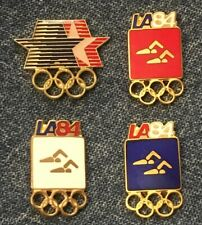 Synchronized Swimming Olympic Pin ~ Set of 4 ~ Pictogram ~ 1984 Los Angeles ~ LA