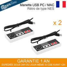 2 MANETTES CONTROLEUR JEU USB GAMEPAD RETRO TYPE NES ORDINATEUR PC WINDOWS MAC