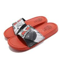 Nike Benassi JDI Print Only Once Orange Black Men Sports Sandal Slide CI1954-016