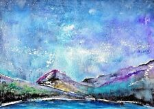 Small (up to 12in.) Blue Art Landscape Paintings