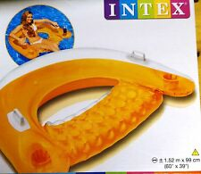 Intex Poolsessel Sit´n Float Schwimmring Lounge Luftmatratze Orange , (K)