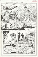 Heroes For Hire #8 p13 Original Comic Art by Al Rio, Whole Team Black Cat MARVEL