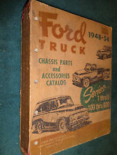 1948-1954 FORD TRUCK CHASSIS PARTS CATALOG / ORIGINAL F100-F600 BOOK 53 51