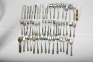 Antique Doll Tea Party Aluminum Metal Cutlery 54 Pcs Solingen Germany