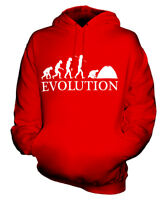 CAMPING EVOLUTION DES MENSCHEN UNISEX KAPUZENPULLOVER HOODIE PULLI HERREN DAMEN