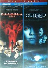 2 WES CRAVEN Horror Movies DRACULA 2000 (2000) Gerard Butler + CURSED (2005)
