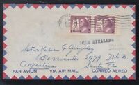 Canada 1958 TRAIN DELAYED Airmail Cover Montreal to SANTA FE ARGENTINA
