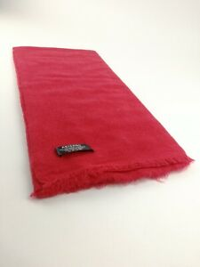 Cashmere Pashmina Scarf Handwoven Nepal wrap Shawl Knit Woven scarf 2PLY RED