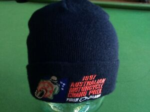 PHILLIP ISLAND 1997 MOTORCYCLE GRAND PRIX OFFICIAL BLACK BEANIE