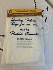 Sanitary Plastic Bags (12) for use with Portable Commodes - Toilet Liners