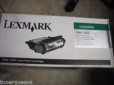 New ! Genuine Lexmark T620 T622  Printer Black Toner Cartridge 12A6860