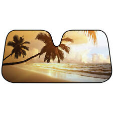 Beach Sunset  Auto Sun Shade  Front Window Visor Windshield  for Car Tuck SUV