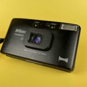 Classic Nikon AF600 Lite Touch 35mm Point And Shoot Camera + 3.5 Lens