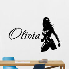 Custom Name Wonder Woman Wall Decal Personalized Vinyl Sticker Girl Mural 169zzz