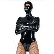 100%Latex Rubber Catsuit Shackles Binding Bodysuit Mask Tights Suit Size XXS-XXL