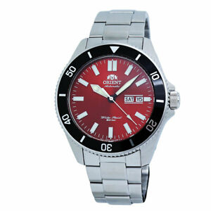 Orient Diver Automatic Red Dial Stainless Steel Men's Watch RA-AA0915R