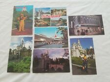 Vintage Disneyland Postcard Lot Peoplemover Tomorrowland Castle Pluto The Upjohn