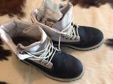 Timberland Juniors Roll Top FRDHM Size 5 Navy Blue Waterproof Boots