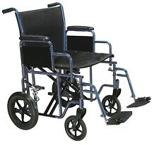 Drive Medical BTR22B Bariatric Heavy Duty Transport Wheelchair With Footrest New
