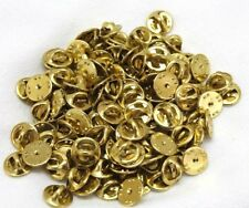 brass clutch backs military badge insignia USMC USAF US pin lapel 100 pieces