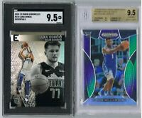 ZION WILLIAMSON Purple Green Prizm 98/199 BGS 9.5 + 2018 Luka Doncic Chronicles