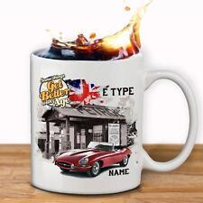 Personalised E TYPE JAGUAR Car Mug Cup Dad Custom Gift - Add Name