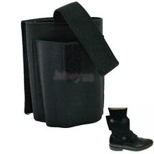 Black Elastic Ankle Holster Concealed Carry Gun Pouch for Small Pistols