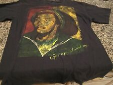 "Bob Marley T-Shirt - Black - Small - ""Get Up, Stand Up"""
