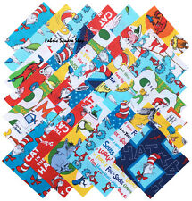 "Robert Kaufman DR. SEUSS Precut 5"" Fabric Quilting Squares Dr Seuss SQ110"