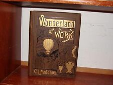 Old MANUFACTURING Book 1880's INDUSTRY LUMBER GLASS METAL-WORK TOOLS CLOCKS TOYS