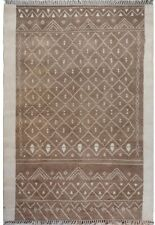 Tribal Geometric Moroccan Oriental Area Rug Natural Dye Wool Hand-Knotted 8'x10'