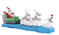 NEW Nightmare before Christmas Inflatable Sleigh Jack Skellington Reindeer Zero