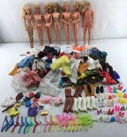 Vintage 1966 Barbie TwistNTurn Lot Clothes Accs 7 Barbies 1966 Ken Doll 1968 X03