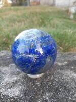 778g Natural Blue Lapis Lazuli Pyrite SphereGemstone Reiki Crystal Ball Healing