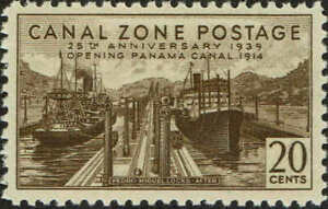 """CANAL ZONE #132 1939 18 CENT """"PEDRO MIGUEL LOCKS-BEFORE"""" ISSUE--MINT-OG/NH-VF"""