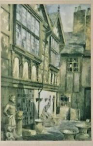 """Antique Etching Signed Print Featherstone Robson """"Stanley Palace, Chester""""1929"""